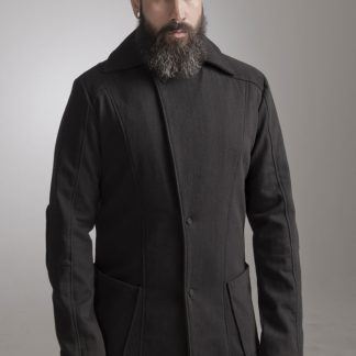 The Black Trench Coat by Disorder, is made from high quality black wool fabric, fully lined and it is handcrafted by our expert tailors in our Birmingham, UK studio.