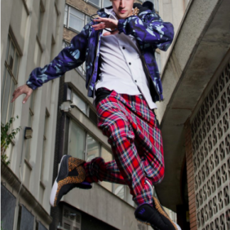The Low Crotch Tartan Trousers are designed and handcrafted by Disorder in Birmingham, UK and are sustainably and ethically made.