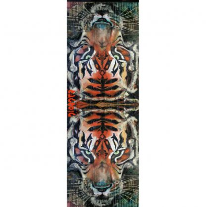 Burmese Tiger Scarf by Disorder is a print of the oil painting 'Burmese Tiger' by Disorder artist Mark Howard, sustainably made in UK.