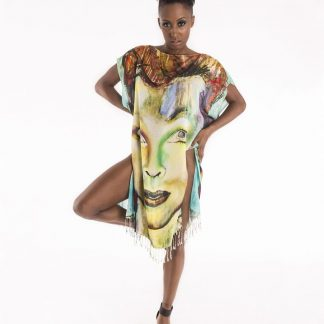 David Bowie Short Tunic Dress is handcrafted by Disorder made from sustainably sourced cotton, with Disorders own original 'Bowie ' painting.
