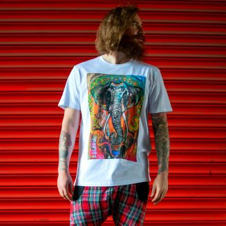 Disorder Ganesh t shirt an ethical and sustainably printed carbon neutral garment.
