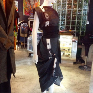 The Disorder Dark Cotton Zen Dress with Obi Belt is a unique, slow fashion dress hand crafted to order by Disorder in our UK studio. Site title Title Separator