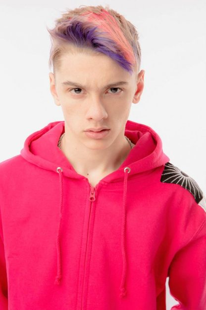 Acid Pink Zen Sweatshirt by Disorder is a one-off slow fashion, sustainablegarment hand crafted n our Birmingham, UK micro factory.