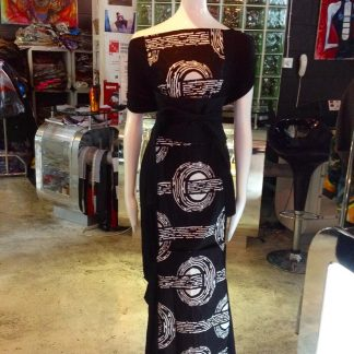 The Disorder Batik Panel Zen Dress with Obi Belt is a unique, slow fashion dress. Hand crafted to order in our UK studio by Disorder.