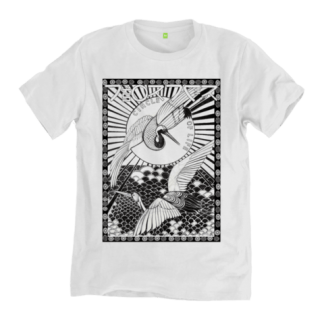The Circle of Life T-Shirt, is an original hand drawn design by Disorder. The image is inspired by our cultural travels through Asia, Asian mythology and the birth of our son. T