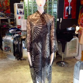 Disorder silk and cashmere kimono