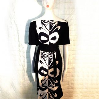 The Disorder Black/White Batik Zen Dress with Obi Belt is a unique, slow fashion dress. Hand crafted to order in our UK studio by Disorder.