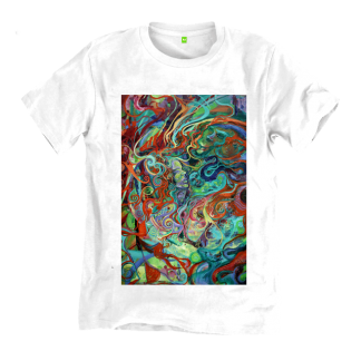 The Disorder Spiral Painting T-Shirt is an organic cotton sustainably made t-shirt by Disorder, from an original oil painting by Disorder.