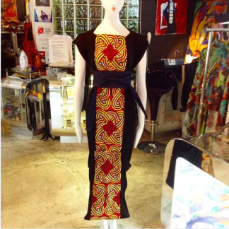 The Disorder Knot Pattern Batik Zen Dress with Obi Belt is a unique, slow fashion dress, hand crafted to order in our UK studio by Disorder