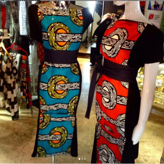 The Disorder Turquoise Batik Zen Dress with Obi Belt is a unique, slow fashion dress, hand crafted to order in our UK studio by Disorder