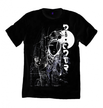 Bladerunner NYC Black T shirt is inspired by the film Bladerunner. Printed on a sustainable, ethicaly made organic cotton t shirt, by Disorder