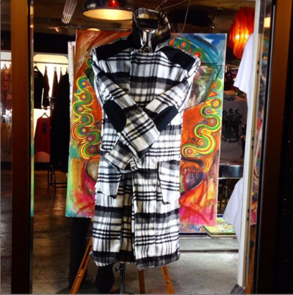 The Woolen Check Winter Coat by Disorder, is made from high quality black and white check wool fabric and it is handcrafted in our Birmingham, UK studio.