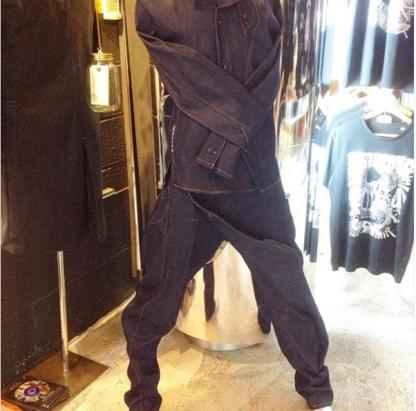 Denim Samurai Trouser by Disorder. Disorder handcraft these limited edition Selvedge Denim Samurai trousers, in our Birmingham, UK studio.