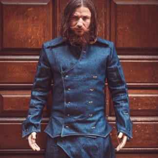 Denim Double Breasted Jacket is designed and handcrafted from a heavy weight indigo blue denim by Disorder.
