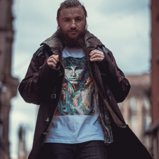 Jim Morrison T-Shirt is a limited edition t-shirt by Disorder and is a print from an original oil painting by Disorder of Jim Morrison