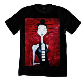 The Arcadian Painting Black T shirt is a print of the original painting Arcadian by Disorder.