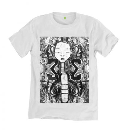 Padaung Woman T-Shirt 'Long Neck Tribe,by Disorder, sustainably made t-shirt. Original painting by Disorder. Handmade in the UK by Disorder