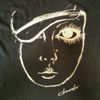 Gold Sixties face t shirt
