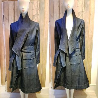 Disorder Denim long collar coat, unique, handmade coat by Disorder.