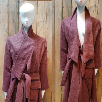 Disorder Tweed Long Collar Coat