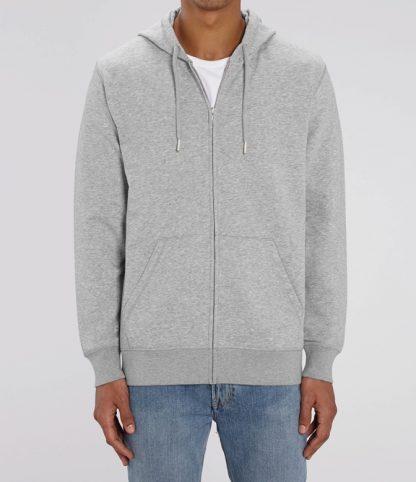 grey sustainable hoodie