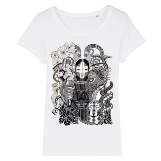 Amazon Rainforest women's T shirt, limited edition print from an original drawing by Disorder. This garment is sustainable and ethically