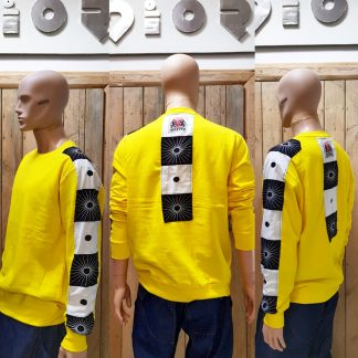 Acid Yellow Zen sweatshirt by Disorder is a one-off slow fashion, sustainable garment. Disorder hand tailor this garment to order in the UK.