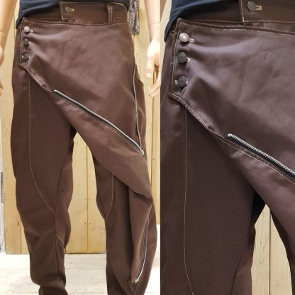 Brown Canvas Samurai Trouser by Disorder, handcraft these limited edition Samurai trousers, in our Birmingham, UK studio.