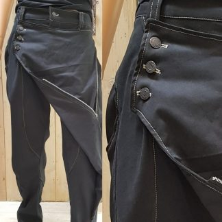 Charcoal-Grey Canvas Samurai Trousers by Disorder, handcraft these limited edition Samurai trousers, in our Birmingham, UK studio.
