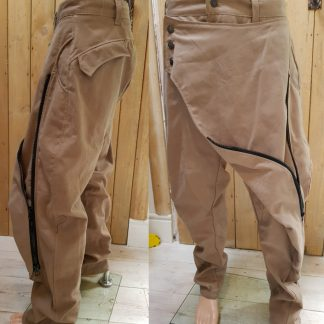 Tan Canvas Samurai Trousers by Disorder, handcraft these limited edition Samurai trousers, in our Birmingham, UK studio.
