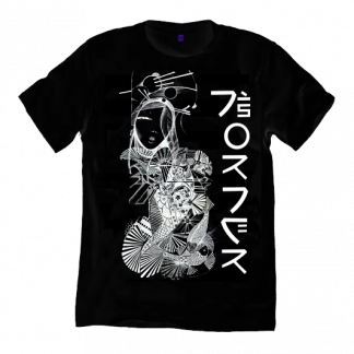 The Koi Kimono Black T-Shirt is an original illustration by Disorder. We hand make all our garments in our Birmingham, UK studio