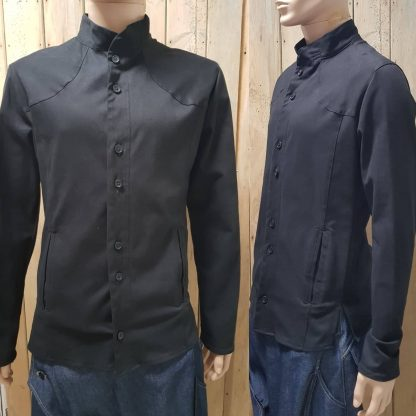 The Disorder Black Stitch Shirt/Jacket is sustainably and ethically handcrafted by our team of skilled tailors, in our Birmingham, UK studio.
