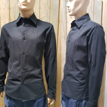 Disorder Black Deluxe Shirt/Jacket is sustainably and ethically hand crafted by our team of skilled tailors, in our Birmingham, UK studio.